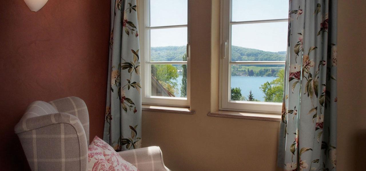 Ausblick aus der Ferienwohnung auf den Bodensee