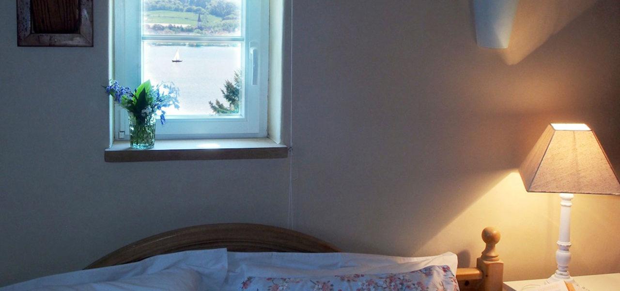 Schlafzimmer der Ferienwohnung im Dachgeschoss
