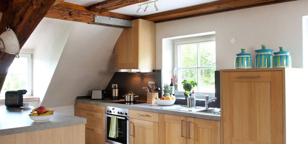 Küche der Ferienwohnung im Dachgeschoss