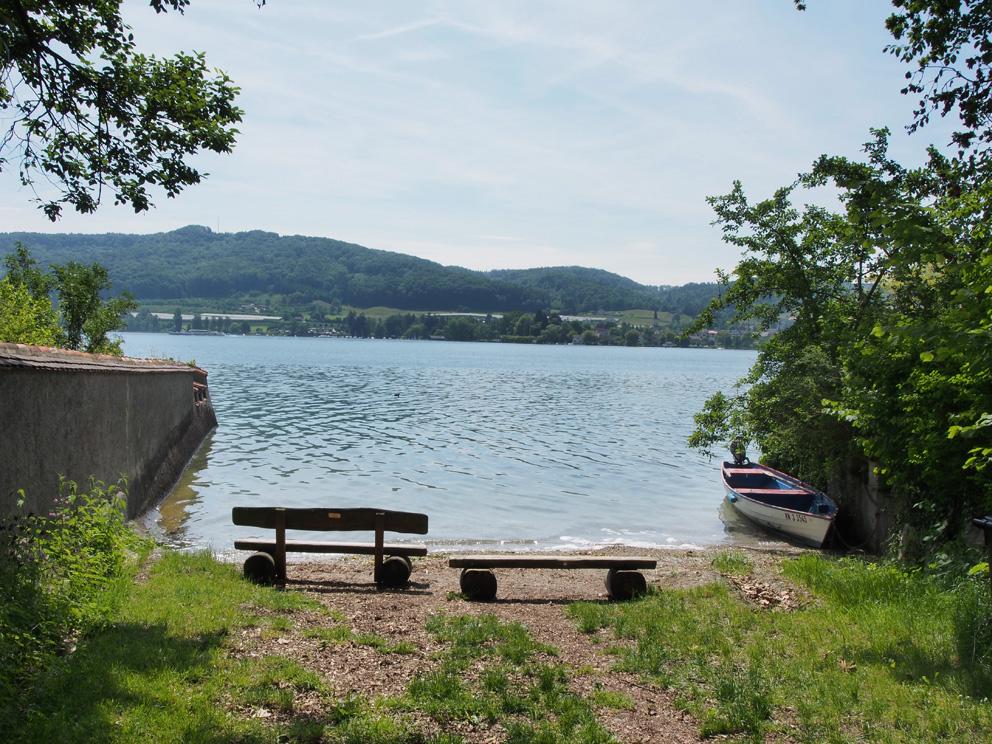 Badestrand in der Nähe des Ferienhaus am Bodensee