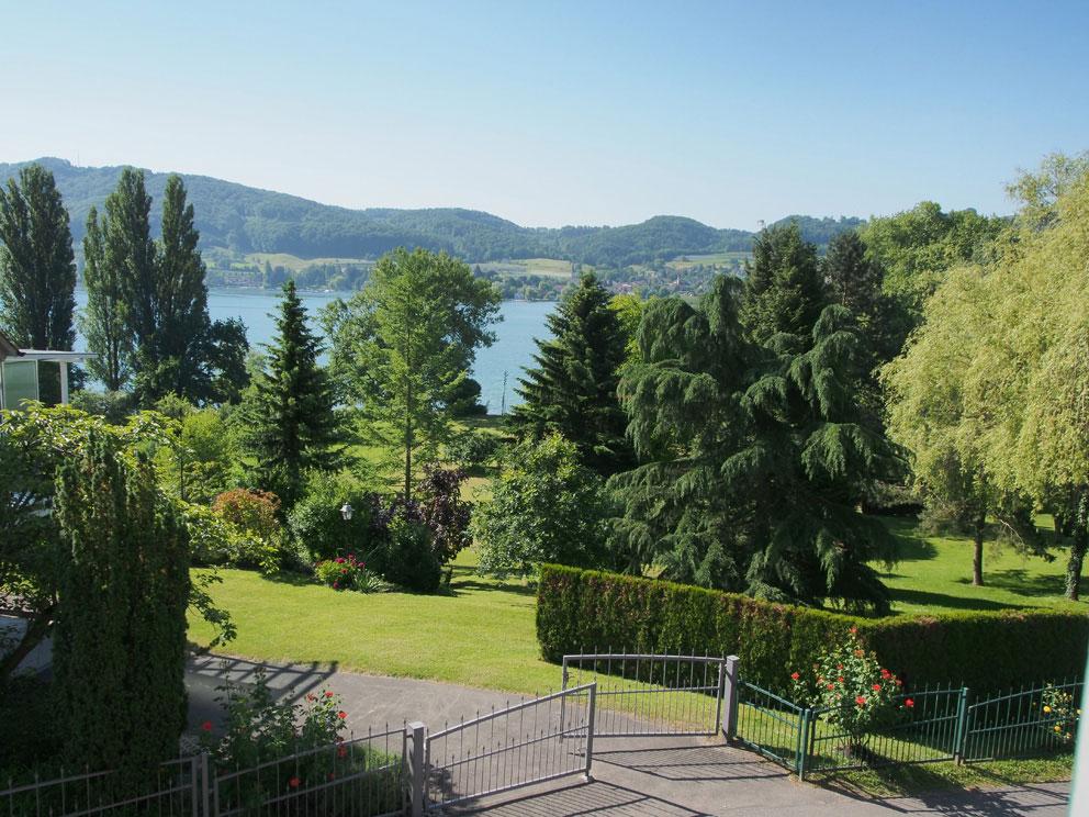 Blick vom Ferienhaus auf den Bodensee