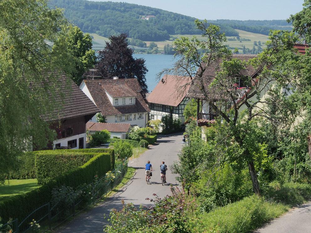 Blick zur Schlossstraße in Öhningen