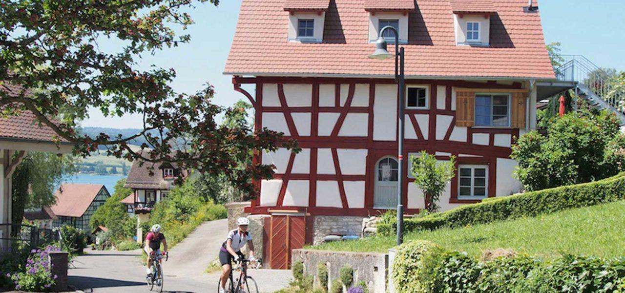 Außenansicht des restaurierten Ferienhaus in Öhningen