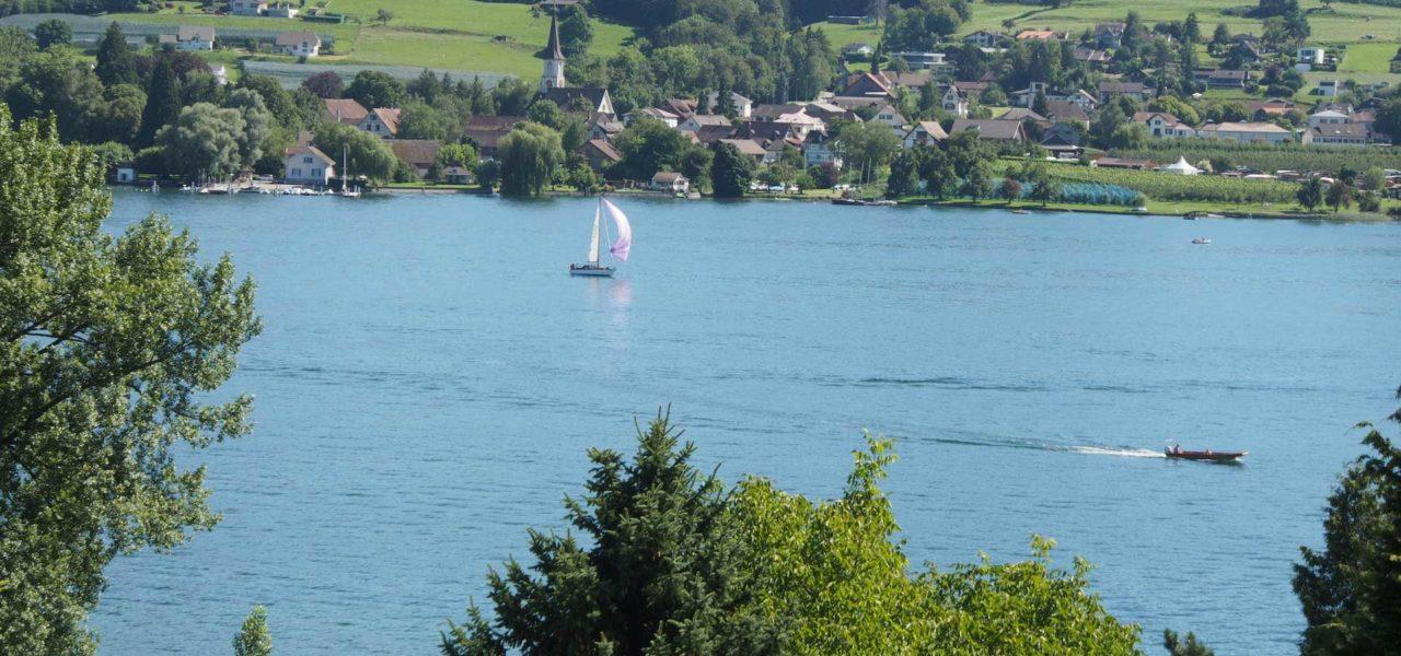 Ausblick von der Ferienwohnung am Bodensee