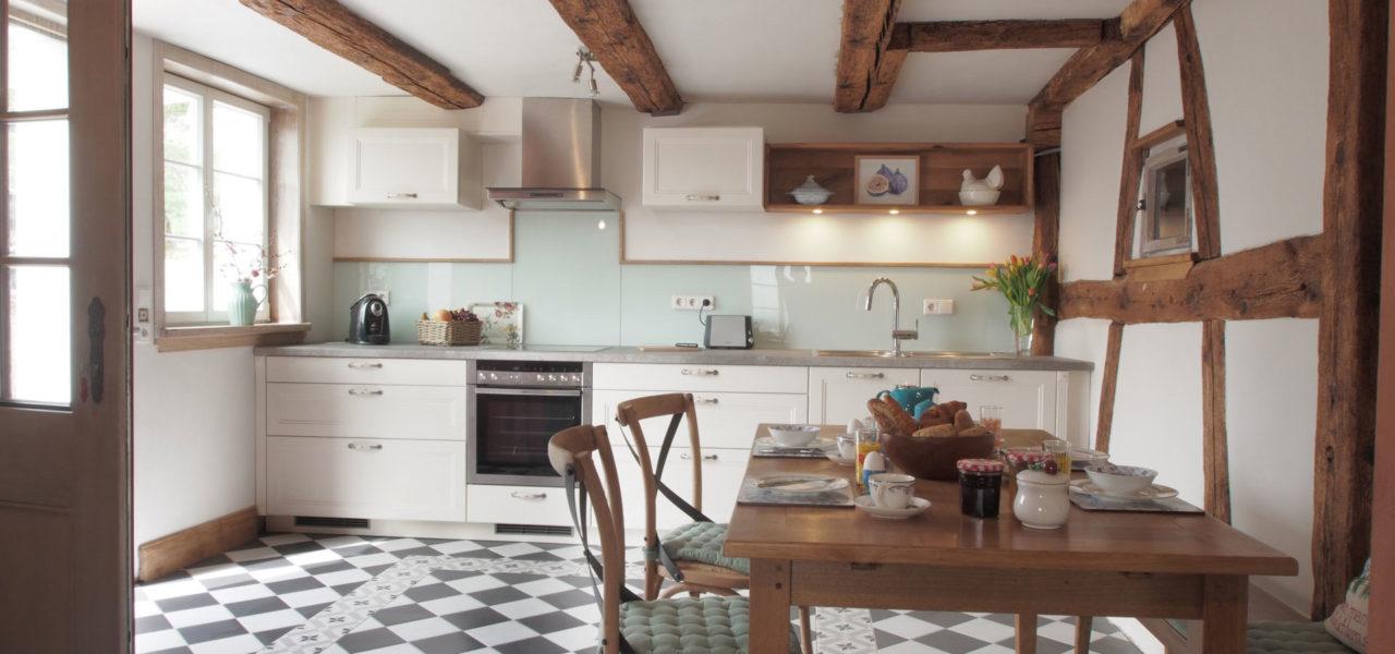Küche der Ferienwohnung im Erdgeschoss