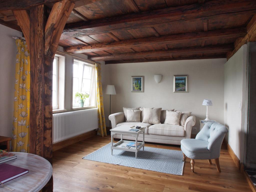 Wohnzimmer der Ferienwohnung im Erdgeschoss in Öhningen am Bodensee