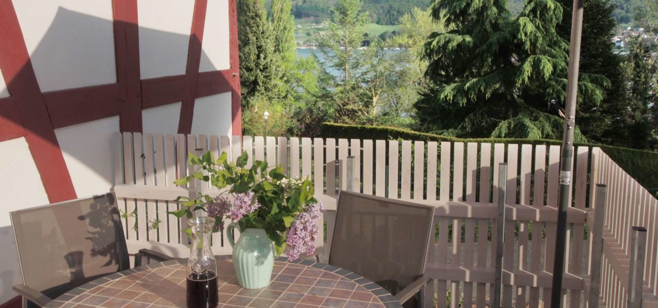 Balkon der Ferienwohnung im Erdgeschoss