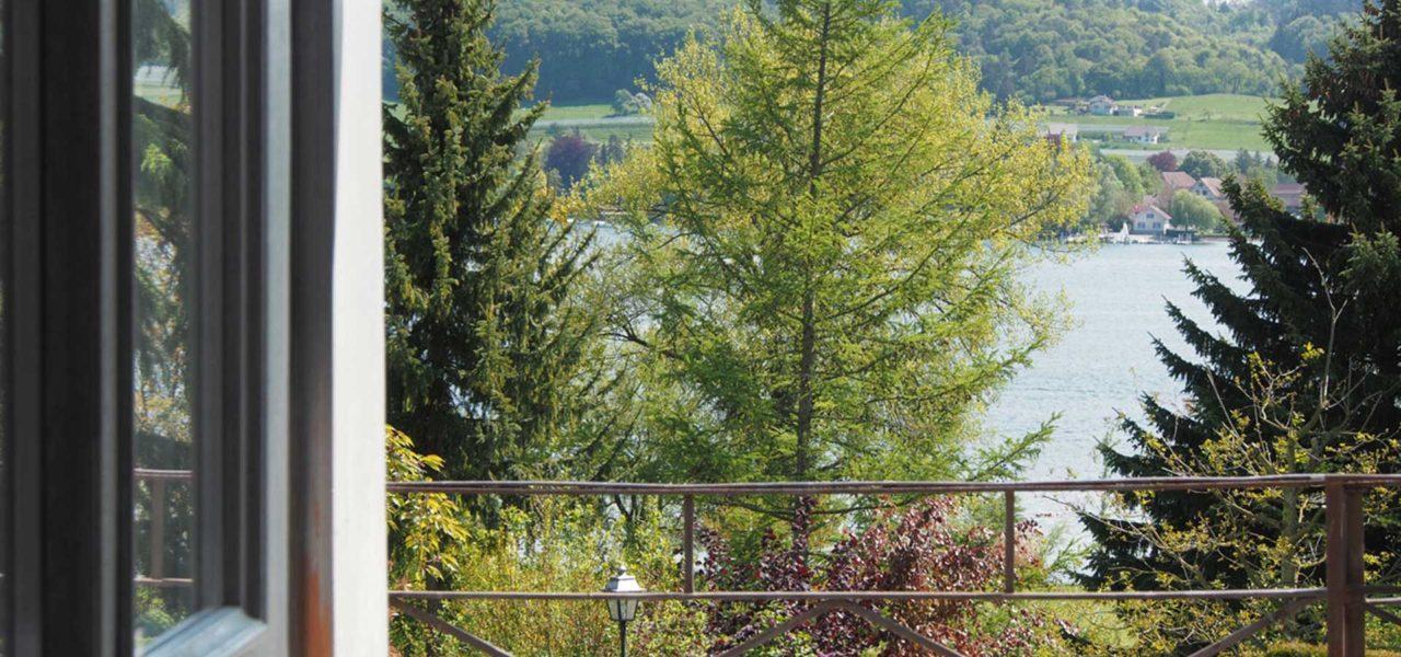 Ausblick von Balkon der Ferienwohnung am Bodensee